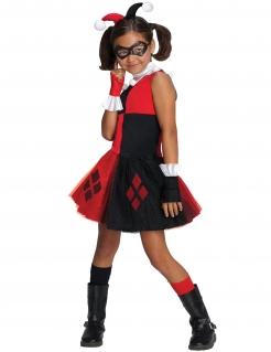Harley Quinn™-Lizenzkostüm für Mädchen rot-schwarz