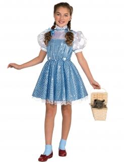 Dorothy™-Kostüm für Mädchen mit Pailletten Der Zauberer von Oz™ Karneval blau-weiss
