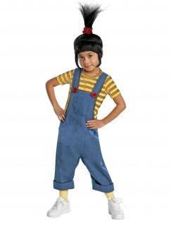 Minions™-Kostüm Agnes für Kinder Karneval gelb-blau-schwarz