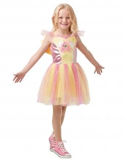 My Little Pony™-Kostüm Fluttershy Mädchen Karneval gelb-rosa