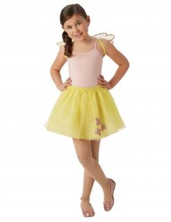 Fluttershy-Accessoire-Set für Mädchen Tutu und Flügel gelb-rosa