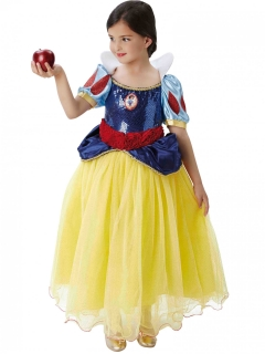 Schneewittchen™-Kostüm für Kinder Karneval gelb-blau