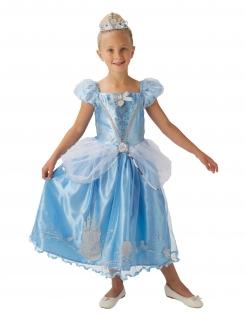 Cinderella™-Kostüm für Mädchen Faschingskostüm blau-silber