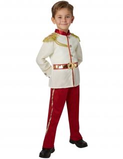 Prinz Charming Kostüm für Jungen Disney™-Kinderkostüm Dornröschen weiss-rot-gold