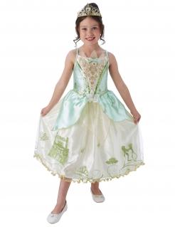 Tiana™-Kostüm für Kinder Karneval weiss-grün-türkis