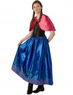 Die Eiskönigin™-Anna Kostüm für Kinder Karneval blau-rot-schwarz