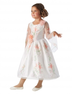 Belle™-Kostüm für Kinder Disney™ Fasching weiss-rosa