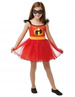 Superheldin-Kostüm für Mädchen Die Unglaublichen 2™ Lizenzkostüm rot-schwarz-gelb