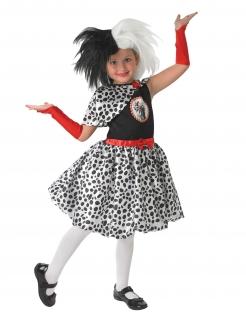 Cruella™-Perücke für Kinder Disney™-Lizenzartikel weiss-schwarz