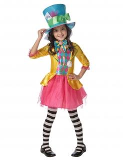 Verrückte Hutmacherin™-Kostüm für Mädchen Karneval bunt