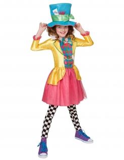 Verrückter Hutmacher™-Kostüm für Mädchen Karneval bunt