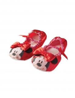 Minnie Maus™-Hausschuhe Ballerinas Accessoire rot-schwarz