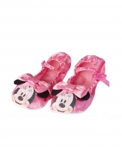 Minnie Maus™-Hausschuhe Ballerinas Accessoire rosa-schwarz