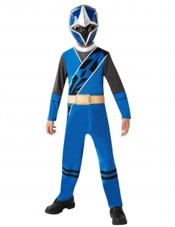 Power Rangers Ninja Steel™-Kostüm für Kinder Karneval blau-schwarz