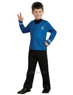 Mr. Spock™-Kostüm für Kinder Star Trek™ blau-schwarz