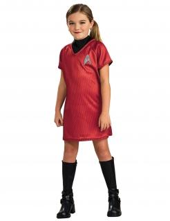 Uhura™ Kinderkostüm für Mädchen schwarz-rot