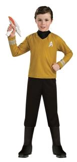 Captain Kirk™ Deluxekostüm für Kinder Star Trek™ Fasching schwarz-gelb