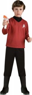 Scotty-Kostüm für Kinder Star Trek™ Karneval schwarz-rot