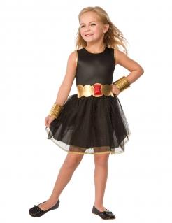 Black Widow™-Kinderkostüm für Mädchen schwarz-goldfarben-rot