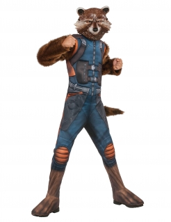 Rocket Racoon™ Kinderkostüm braun-blau-orange
