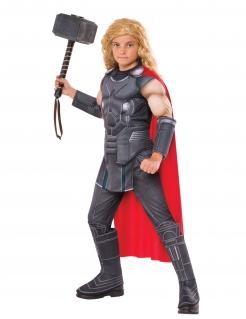 Thor™-Kostüm Deluxe für Kinder Karneval grau-rot