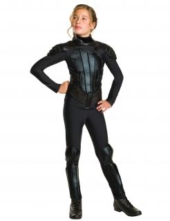 Katniss Everdeen™-Kostüm für Kinder Faschingskostüm schwarz
