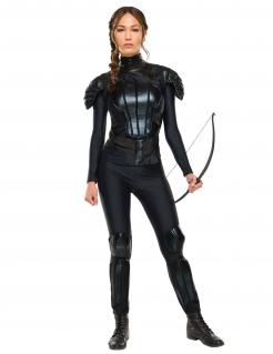 Katniss Everdeen™-Lizenzkostüm für Damen schwarz