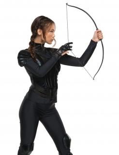 Katniss-Handschuh für Damen Hunger Games™ Accessoire schwarz