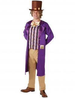 Willy Wonka™-Lizenzkostüm für Herren bunt