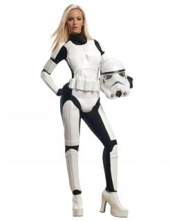 Stormtrooper™ Damen-Lizenzkkostüm schwarz-weiss