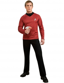 Scotty-Kostüm für Herren Star Trek™ rot-schwarz