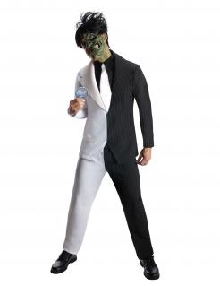 Two-Face-Kostüm Arkham Knight™ für Erwachsene schwarz-weiss