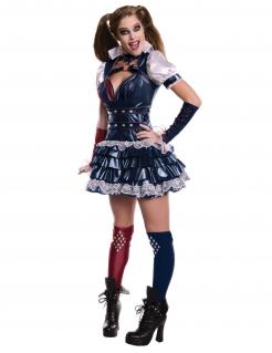 Hochwertiges Harley Quinn-Kostüm Arkham Knight™-Kostüm für Damen dunkelblau
