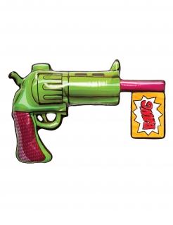 Aufblasbare Joker™-Pistole Suicide Squad™ Accessoire grün-pink
