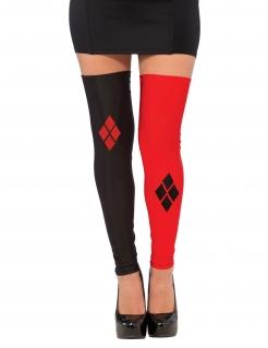 Harley Quinn™-Overknees Lizenzartikel schwarz-rot