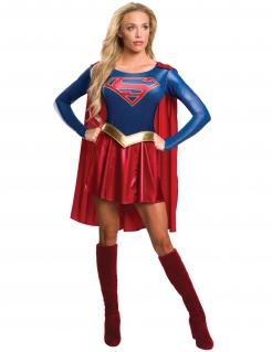 Supergirl™-Damenkostüm DC™-Lizenzkostüm blau-rot-gold