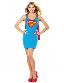 Supergirl™-Kostüm für Damen Fasching blau-rot-gelb