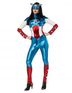 Miss America™-Kostüm blau-weiss-rot