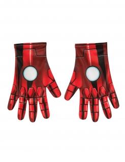 Iron Man™-Handschuhe Superhelden-Accessoire rot-schwarz