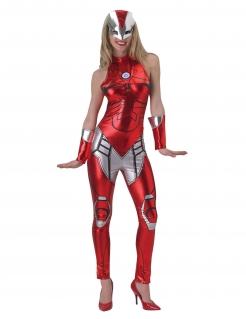 Iron Girl™ Kostüm für Damen rot-silber