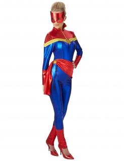 Captain Marvel™-Lizenzkostüm rot-gelb-blau