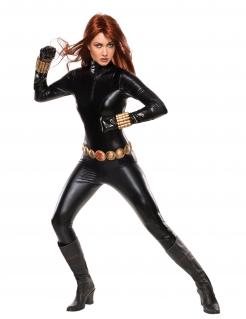 Black Widow™-Lizenzkostüm für Erwachsene schwarz-goldfarben