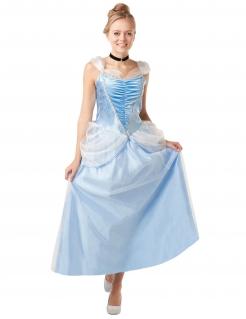 Cinderella™-Lizenzkostüm für Damen blau-weiss-schwarz