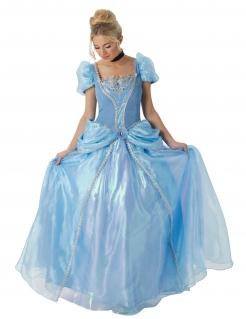 Cinderella™ Lizenzkostüm Disney™ für Erwachsene blau-weiss-schwarz