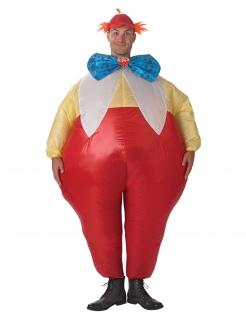Aufblasbares Kostüm Dideldum oder Dideldei™ Alice im Wunderland™ rot-gelb-blau