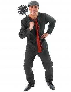 Bert™-Kostüm für Herren Mary Poppins™schwarz-rot