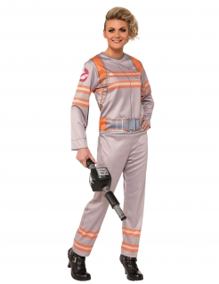 Ghostbuster™-Kostüm für Damen Faschingskostüm beige-orange