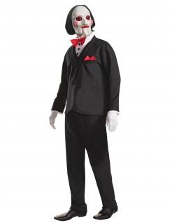 Billy-Kostüm Saw™ Halloween-Kostüm schwarz-weiss