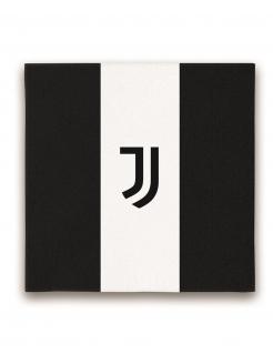 Juventus™-Servietten Tischdeko 20 Stück schwarz-weiss 33x33cm