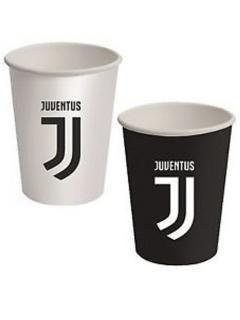 Juventus™-Trinkbecher 8 Stück schwarz-weiss 266ml